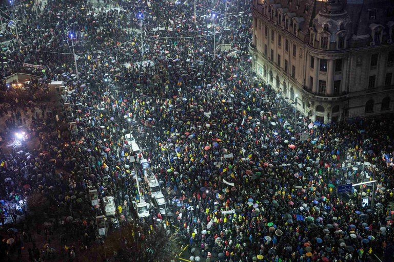 Footage released in Romania reveals protestor violence and pre-meditated provocation