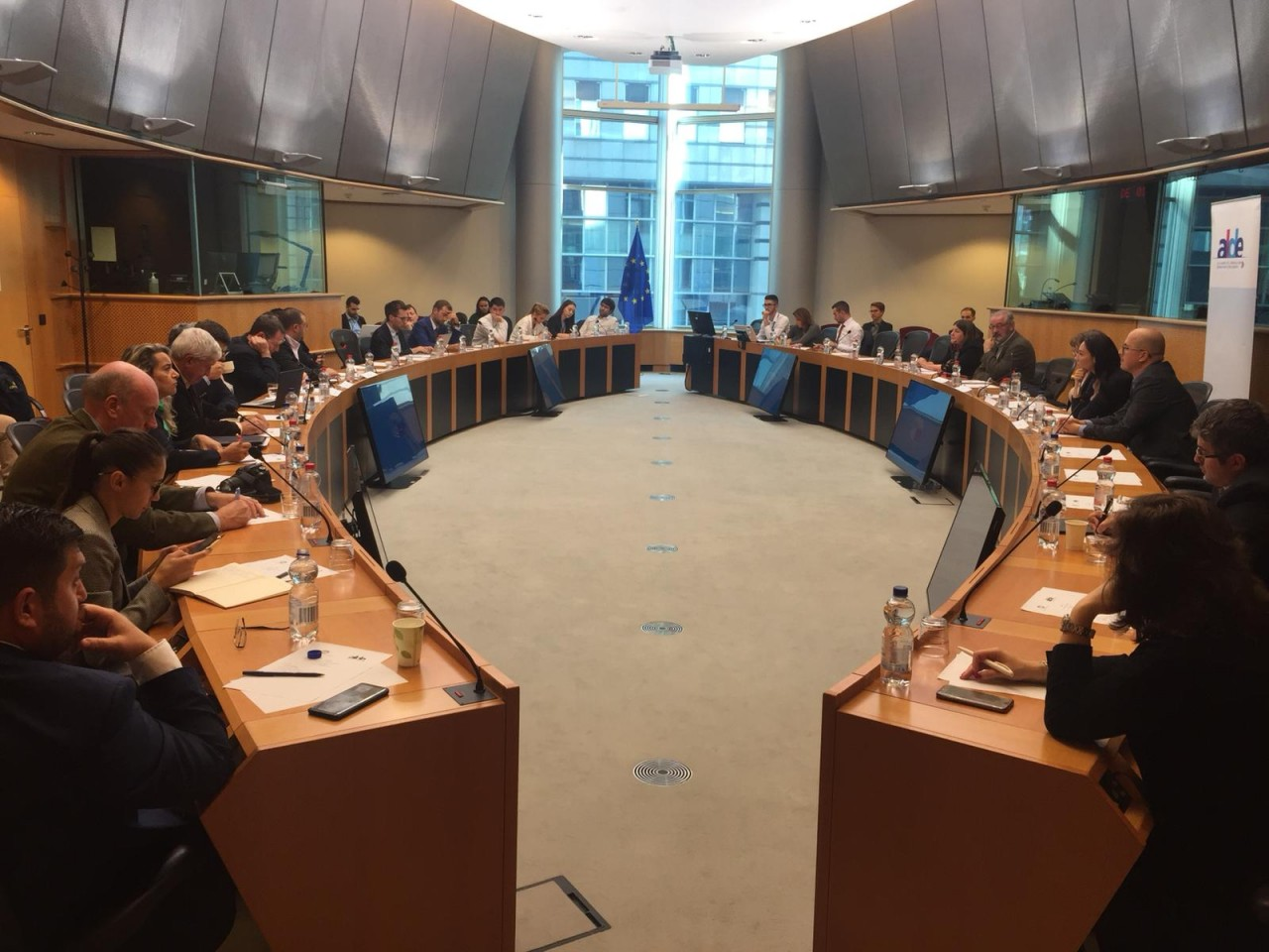 European Parliament Round Table Hosted by Norica Nicolai MEP on the Reform of the Law and Justice System in Romania with Daniel Dragomir